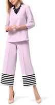 Anette Women's Casual Pants Lilac - Lilac Tunic & Lilac & Black Stripe Border Crop Pants - Women & Plus