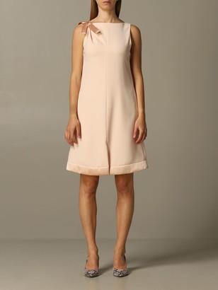 Emporio Armani Dress In Crecirc;pe With Bow