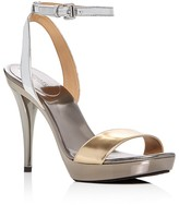 MICHAEL Michael Kors Catarina Metallic Color Block High Heel Platform Sandals