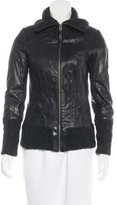 Mackage Leather Knit-Trimmed Jacket