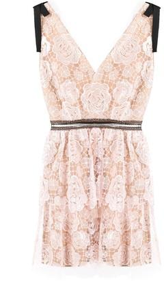 Self-Portrait Starlet lace mini dress