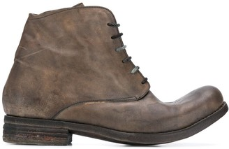 A Diciannoveventitre Stonewashed-Effect Ankle Boots