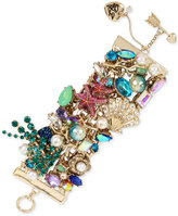 Betsey Johnson Gold-Tone Multi-Stone Sea Motif Bracelet