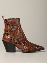 Kate Aeyde Ankle Boot In Python Print Leather