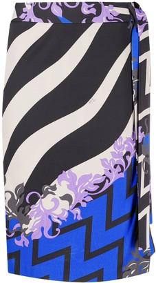 Emilio Pucci x Koche Lupa-print wrap skirt