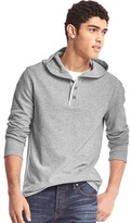 Gap Soft pullover hooded henley