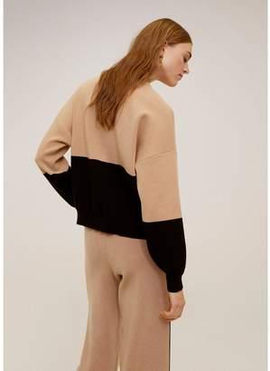 MANGO Colour Block Sweater