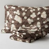 Marimekko Lumimarja Full Sheet Set. Taupe. Includes one flat sheet, one fitted sheet and two standard pillowcases.