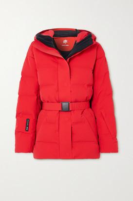 Ienki Ienki Sheena Hooded Belted Quilted Down Ski Jacket - Red