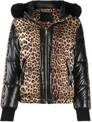 Philipp Plein Leopard-Print Puffer Jacket