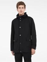 Calvin Klein Platinum Sculpted Cotton Hooded Jacket