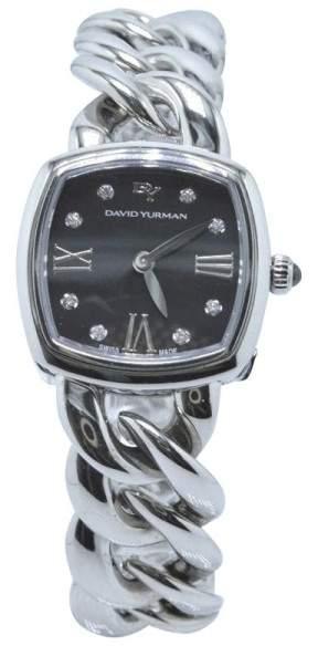 David Yurman Albion T9005QSSTBRAC Stainless Steel with Diamonds Quartz 23mm Womens Watch