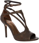 Max Studio Sear2 Metallic Leather Sandals