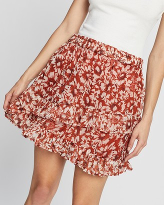 Only Women's Red Jumpers - Vilma Short Skirt - Size 36 at The Iconic