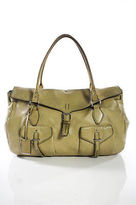 Jil Sander Beige Leather Flap Over Large Satchel Handbag