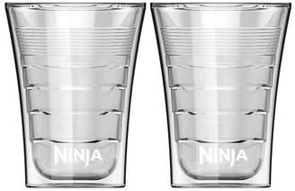Ninja 14 Oz Microwave Safe Plastic Double Insulated Cup for Coffee Bar (2 Pack)