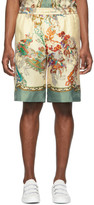 Gucci Off-White Silk Printed Shorts