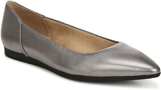 Naturalizer Leather Pointed-Toe Ballerina Flats- Rayna