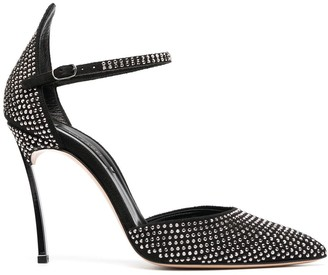 Casadei Crystal-Embellished Stiletto Sandals