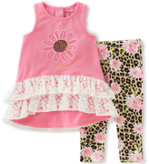 Juicy Couture Pink Lace Tunic & Floral Leggings - Infant
