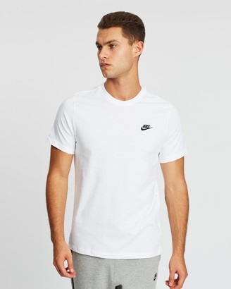Nike Men's White Short Sleeve T-Shirts - Club Tee - Men's - Size S at The Iconic