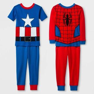 Marvel Baby Boys' 4pc Pajama Set - Red/Blue