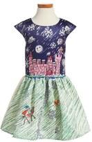 Halabaloo Toddler Girl's Save The Princess Fit & Flare Dress