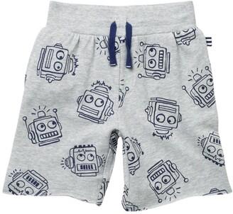 Splendid Robot Print Shorts