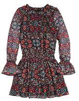 Ella Moss Girls' Floral Bell-Sleeve Dress - Big Kid