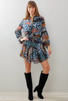 Olivaceous Pieced Floral Fit & Flare Dress Multi M