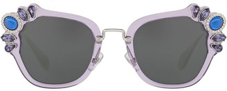 Miu Miu Crystal-Embellished Sunglasses