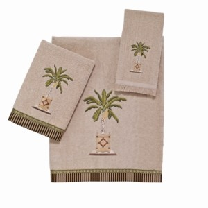 Avanti Banana Palm Embroidered Bath Towel Bedding