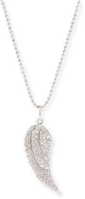 Sydney Evan 14k Small Angel Wing Pendant Necklace w/ Diamonds