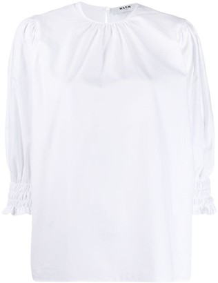 MSGM Ruched Neck Blouse