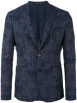 Emporio Armani geometric pattern blazer - men - Cotton/Polyamide/Polyester/Viscose - 52