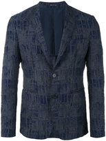 Emporio Armani geometric pattern blazer