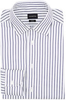Ermenegildo Zegna Men's Trofeo Cotton Dress Shirt-WHITE, NAVY