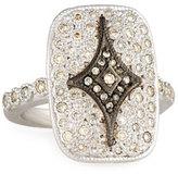 Armenta New World Rectangular Pavé; Crivelli Shield Ring