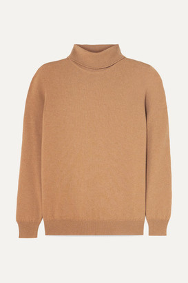 &Daughter Casla Cashmere Turtleneck Sweater - Camel
