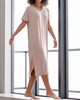 Express Sijo Eucalyptus Short Sleeve Lounge Midi Dress