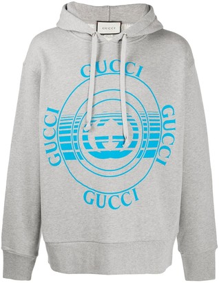 Gucci disk print oversize hoodie