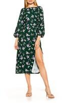 Thumbnail for your product : Alexia Admor Boatneck Slit Hem Midi Dress