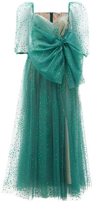 RED Valentino Glitter-embellished Tulle Dress - Green