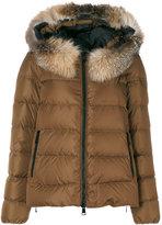Moncler Chitalpa jacket - women - Fox Fur/Polyamide/Goose Down - 0