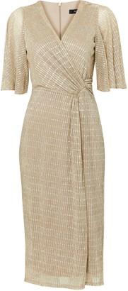 Wallis Gold Shimmer Finish Midi Dress