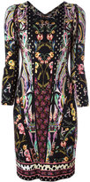 Roberto Cavalli floral print V-neck dress - women - Viscose - 42