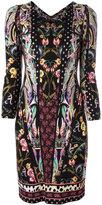 Roberto Cavalli floral print V-neck dress