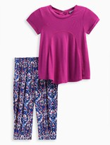 Splendid Baby Girl Burnout Top with Printed Pant