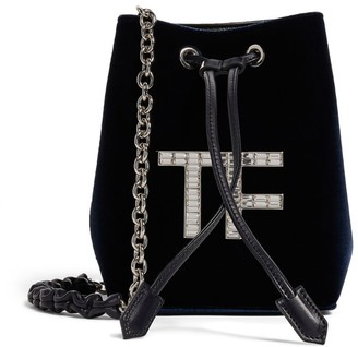Tom Ford Mini Velvet Crystal Bucket Bag
