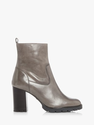 Dune Panner Leather Ankle Boots
